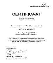 Certificaat  kwaliteitsvisitatie